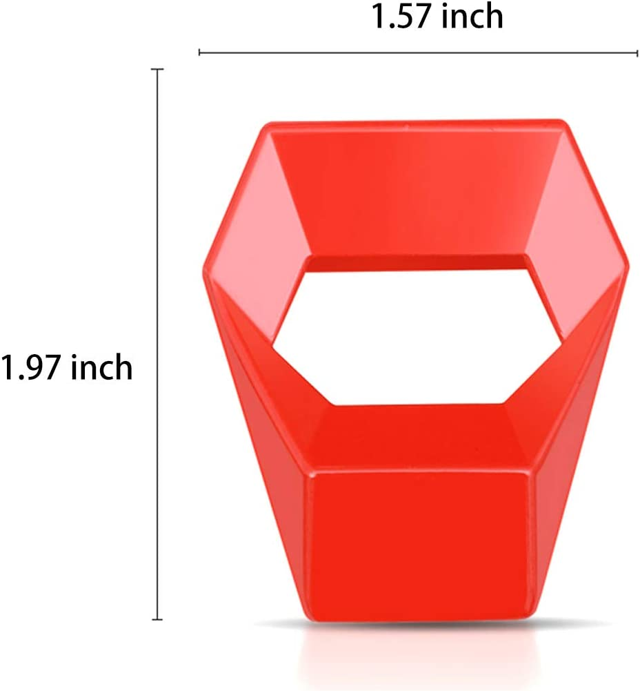 Ramecar Universal Engine Start//Stop Push Button Cover Aluminum Alloy Car Power Control Trim for Honda Civic Accord CRV XRV Dodge Challenger Charger Toyota CHR Red