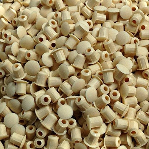 HARDWARE FOR YOU LTD 5MM COVER CAPS KITCHEN CABINET CUPBOARD UNIT DRILL HOLE FURNITURE CAPS (MARL BEIGE)