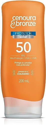 Protetor Solar Fps50 200ml, Cenoura e Bronze