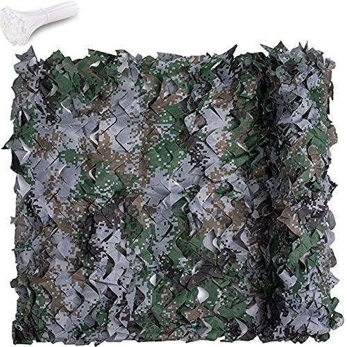 Tela Camuflaje Sombra - Tela Camuflaje Caza Camping Shelters Camo Netting Oxford Cloth Camo Net Y 800pcs Nylon Tie Wraps Malla De Camuflaje Digital Para Sombrilla Decoración Fo(Size:7×10m/22.9×32.8ft)