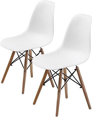 La Bella Replica Eames DSW Dining Chair - White X2