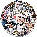 Coreano Kpop Star Bangtan Boys Suga V mano cuenta pegatinas para el ordenador portátil monopatín equipaje Notebook Calcomanías ventiladores niños juguetes 75 unids