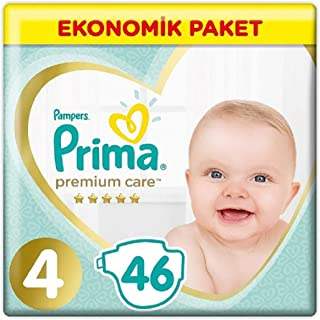 Prima Bebek Bezi Premium Care, 4 Beden, 46 Adet, Maxi Jumbo Paket