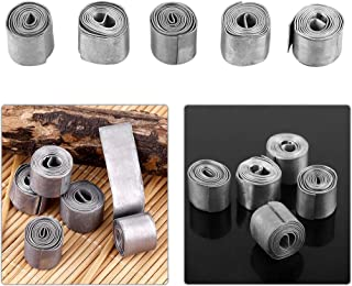 Lead Sheet,5 Rolls 0.6MM Soft Sheet Lead Roll Fishing Soft Lead Sheet Strip Weights Sinkers Clip Tackle Fishing Supplies