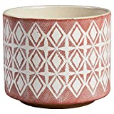 Amazon Brand – Rivet Modern Geometric Ceramic Planter, 6.5'H, Rose