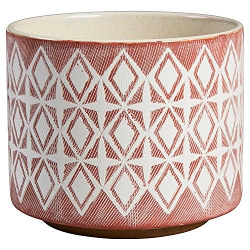 Amazon Brand – Rivet Modern Geometric Ceramic Planter, 6.5'H, Rose
