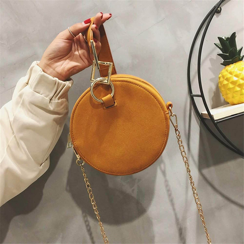 Lidoudou Sen Textur Mini Tasche weibliche einfach lässig Wilde Messenger Bag gelb braun Durchmesser 16 cm Material PU B07MFVL2F6  Große Klassifizierung