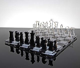 Slato Échiquier de Design décoratif et Moderne Set d'échecs acryliques en plexiglass Queen
