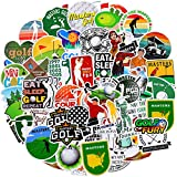 Outus 100 Pieces Vinyl Golf Stickers Sports Decals Waterproof Golf Stickers Mixed Laptop Decals for Decoration Water Bottle, Computer, Phone, Luggage, Guitar, Refrigerator, Bike