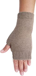Mongolia Pure Cashmere Wool Women Woman Men Man Thick Fingerless Gloves Mittens(1 pairs)