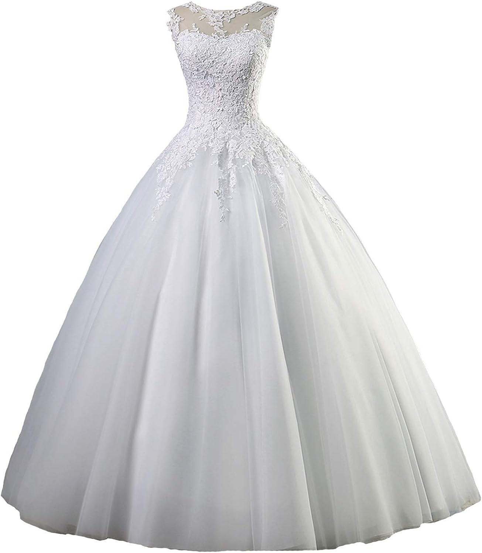 Yuxin Appliques Lace Ball Gown Wedding Dresses 2020 Plus Size Vintage Princess Bridal Gowns
