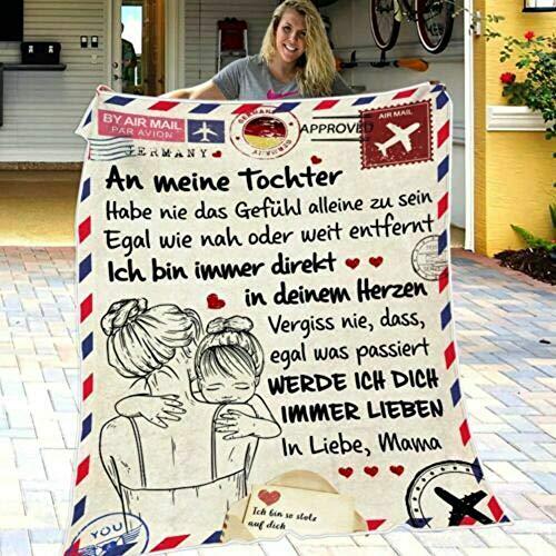 Hezhu An Meine Tochter Liebesdecke Druckdecke auf dem Bettgeschenk Heimdecke