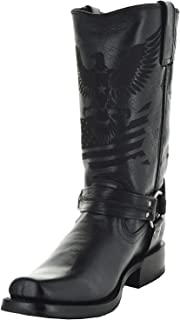 Men's Leather Harness Boots H50021