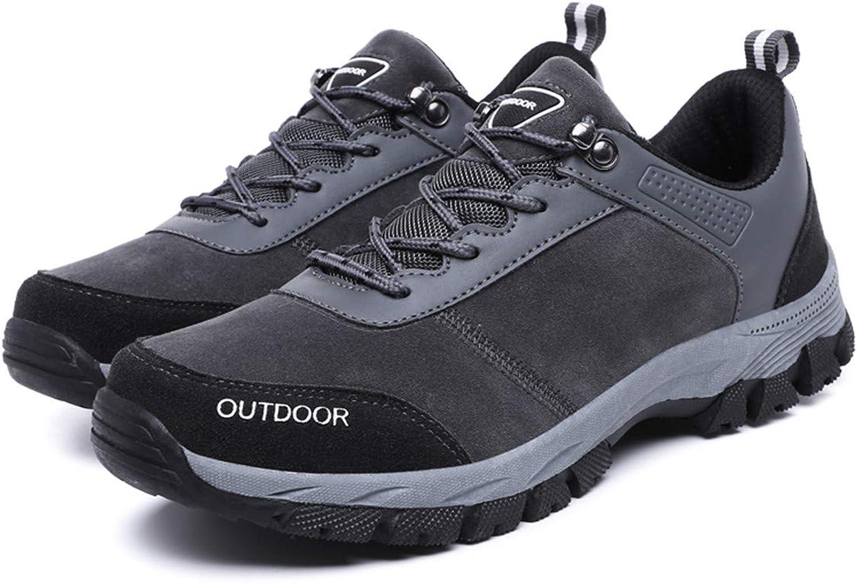 Camfosy Herren Trekking& Wanderschuhe,Hiking Schuhe Turnschuhe Outdoor Wasserdicht Rutschfest Wanderstiefel - Schwarz Grau