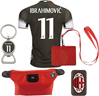 #11 Ibrahimovic (6 in 1 Combo) A.C. Milan 2nd Away Match Adult Soccer Jersey 2016-17