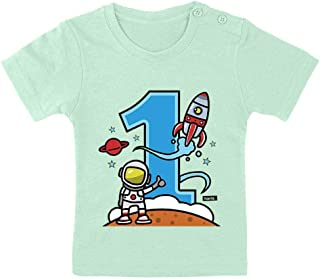 HARIZ Camiseta para bebé, diseño de astronauta con cohete