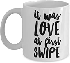 It Was Love at First Swipe Right Mug I Swiped Coffee Cup I Love You Cheesy Valentine's Day Gift