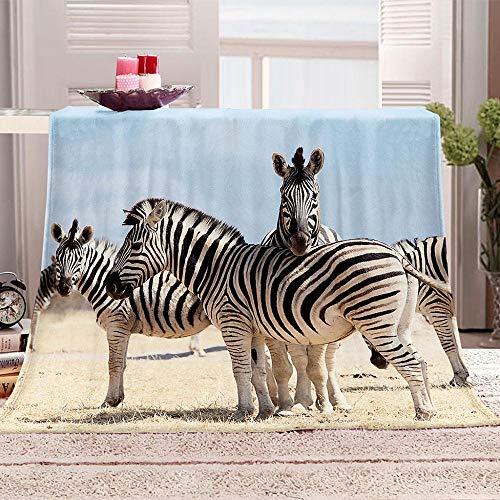 xczxc Kuscheldecke Flanell Mikrofaser Tierisches Zebra 3D Gedruckte Decke Fleecedecke Weich Wohndecke Tagesdecke Dicke Sofadecke zweiseitige Decke Sofa und Bett 150x200cm