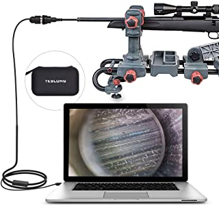 Teslong Rifle Bore Scope, 0.2inch Gun Barrel Borescope Camera with Short Focus Camera, Side-View Mirror, for Windows, Mac, Linux and Android