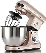 MURENKING Professional Stand Mixer MK37A 500W 5-Qt Bowl 6-Speed Tilt-Head Food Electric Mixer Kitchen Machine,Plastic (Champagne)
