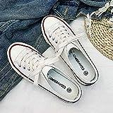 N\C Half-drag Low top zapatos de lona de los hombres zapatos de moda zapatillas de deporte de las mujeres 40/ blanco
