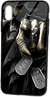 Ven-PCI Grim Reaper Death God Apple IphoneXS MAX TPU Glass Phone Case iPhone Xs MAX Cover Case 6.5in Protective Couple Cellphone Shell Unique Gift