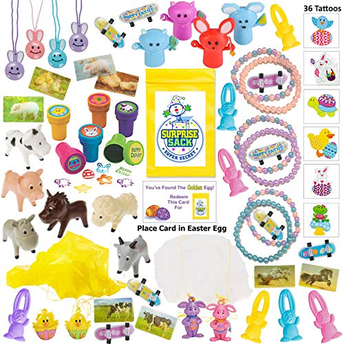 110 Piece Easter Egg Filler/Stuffers (Small Toy Assortment of Easter Toys,..) Easter Basket Stuffers/Fillers