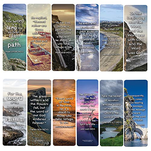 Powerful Promises Messages from Words of God Bookmarks (30-Pack) - Stocking Stuffers for Boys Girls - Children Ministry Bible Study Church Supplies Teacher Classroom Incentives Gift