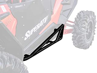 SuperATV Heavy Duty Rock Sliding Nerf Bars for Polaris RZR XP Turbo S (2018+) - Wrinkle Black
