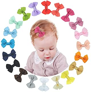 """PALAY® 2"""" Mini Hair Bow Grosgrain Ribbon Hair Bows with Alligator Clips for Baby Girls Toddlers Kids?20colors?"""