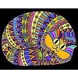 Terciopelo colorvelvet de 47x35 cm para colorear con caja de rotuladores - Gato gordo