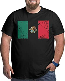 XPEACH Men's Plus-Size T-Shirt Mexico Flag 4 Big and Tall Short-Sleeve Large Size Tee