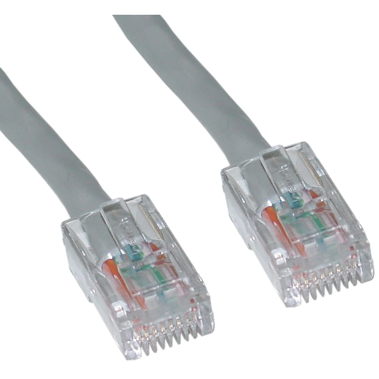 Offex Cat6 Ethernet Patch Cable, Bootless, 2-Foot, Gray (OF-10X8-12102)
