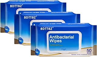 (US SHIPMENT) BDTTBZ 3 Flip-Top Packs 50pcs Disposable Wet Wipes, Portable Cleaning Wet Wipes, All Purpose Travel Size Hand Wipes for Home, Outdoor, Kitchen, Hand Skin Cleaning Care (150 Wipes Total)