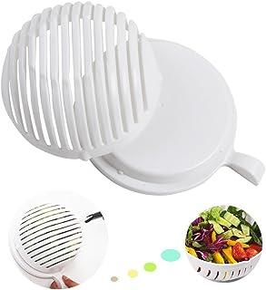 cuchillo de cortador de vegetales - Haga su ensalada en 60 segundos con bono Ebook y Peeler incluido