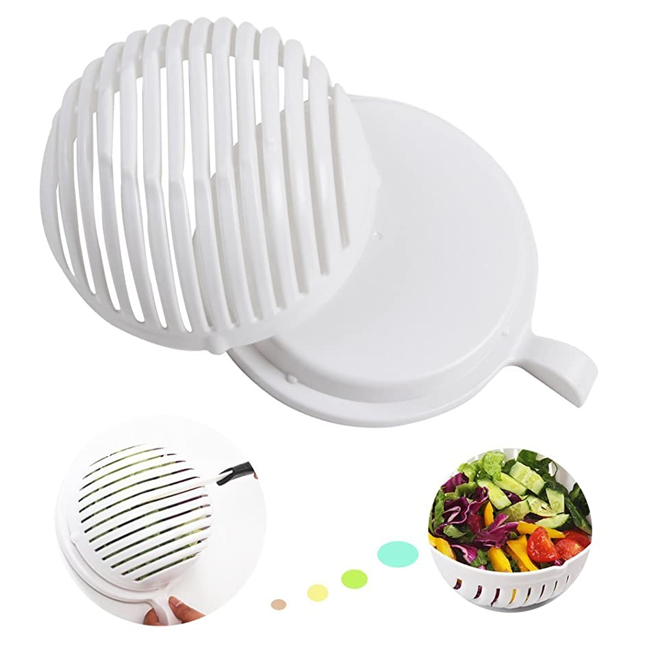 Salad Cutter Bowl,Vegetable Cutter Bowl - Salad Cutter Bowl Fruit Vegetavle Salad Maker Chopper Creates great healthy salads in 60 seconds