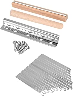 CHENTAOMAYAN 1 Set Steel Kalimba Mbira DIY 17 Keys with Thumb Piano Bridge Musical Instrument Parts for Luthiers Makers (C...