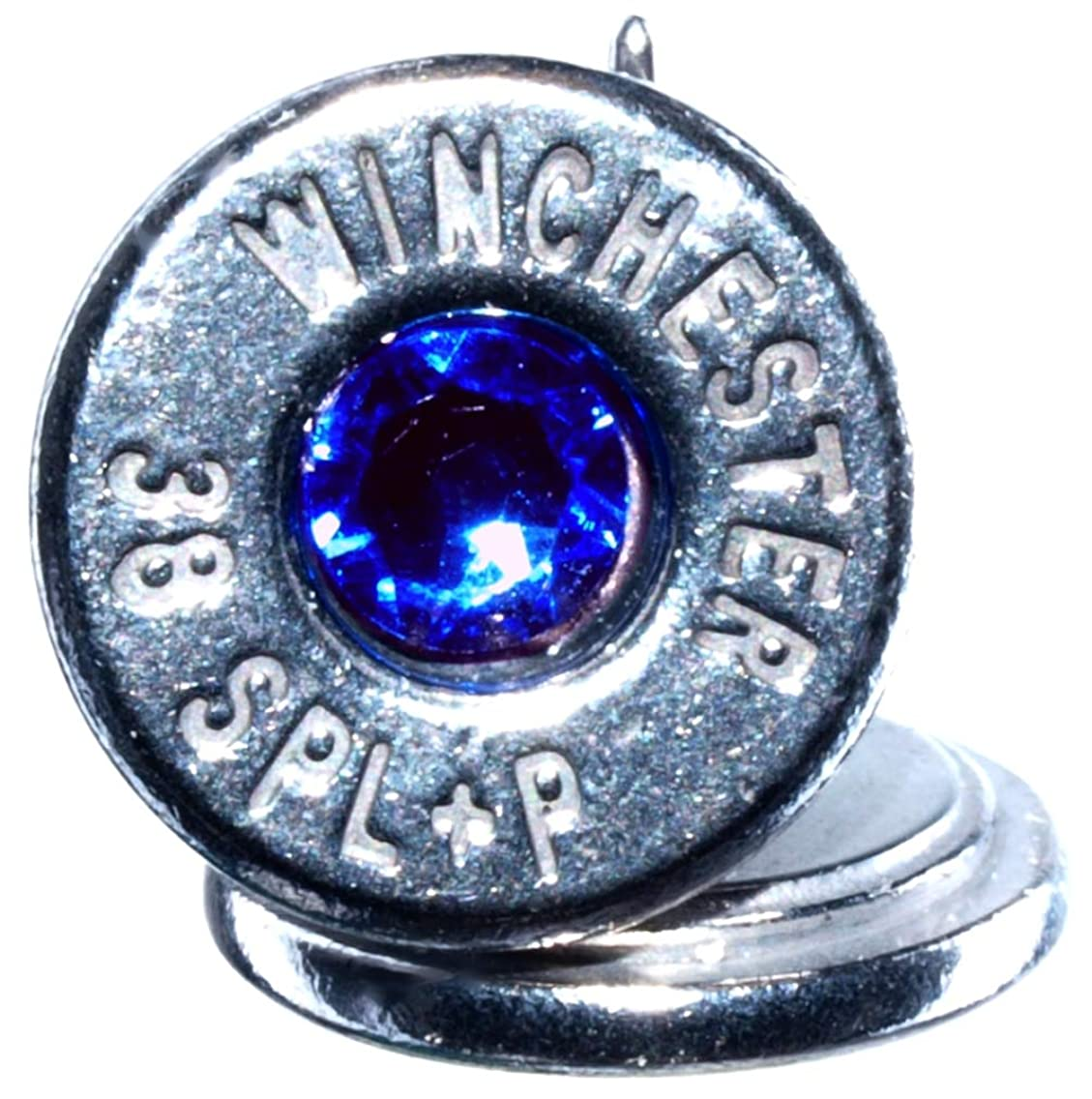 38 Special+P Palladium Plated Stud Earrings with Swarovski Crystals- Lt Blue (Winchester)