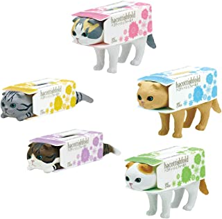 Kitan Club Cat in A Box of Tissues Plastic Toy - Blind Box Version 3 Includes 1 of 5 Collectible Figurines - Fun, Versatile Decoration - Authentic Japanese Design