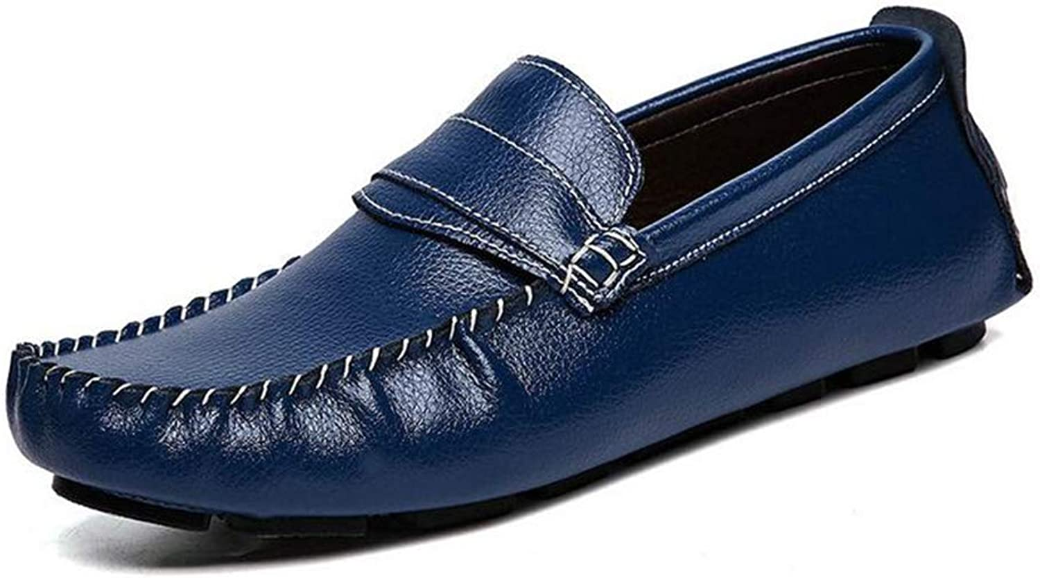 Y-H Men's shoes,2019 New Spring Flat Casual shoes, Loafers & Slip-Ons Lazy shoes Peas shoes Walking shoes,bluee,45
