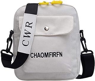 OYSOHE Damen Canvas Umhängetasche Casual Damen Sommer Handtasche Mini Schultertaschen Outdoor Schwarz Weiß Gelb