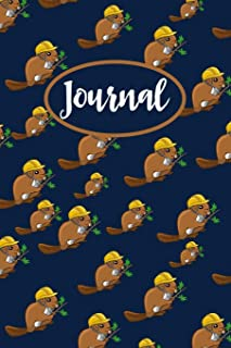 Beaver Journal: Lined Notebook To Write In, Blank Notebook With Cute Beaver Pattern Cover, Beaver Gifts For Teens & Adults.