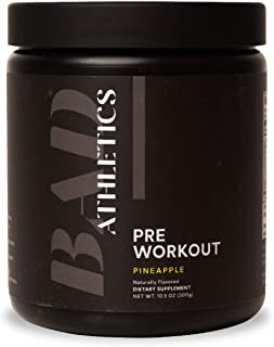 Bad Athletics Pineapple Pre-Workout for Women Energy to Show up, Focus to Put in The Work, and Endurance to do More!