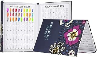 Anself Professional 180 Colors Nail Gel Polish Display Chart Nail Polish Color Card Board Nail Art Salon Set (Style 2)