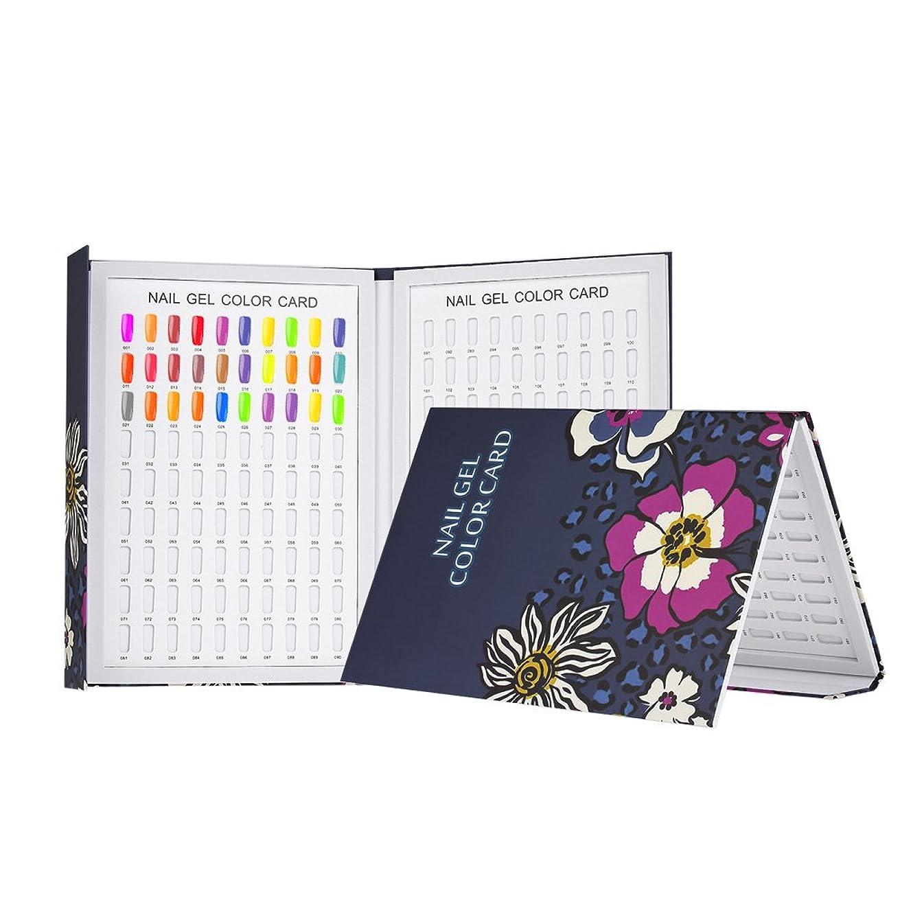 胸ケント医師Decdeal カラーチャート180色 ネイルカラーチャート ネイルチップディスプレイ ネイルジェル表示チャート ネイルアートサロンセット