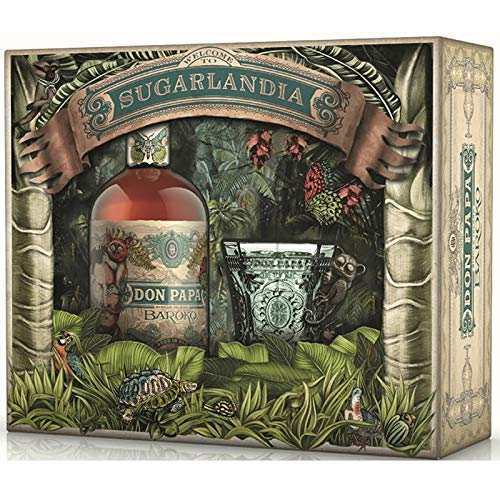 Coffret Don Papa Baroko Sugarlandia - Edition Exclusive 2020 + 1 verre Collector singe tarsier 40° 70 cl