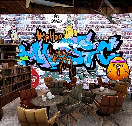MKmd-s 3D Mural Waterproof Creative, European and American Trendy Street Graffiti KTV bar