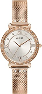 Guess Womens Silver Dial Stainless Steel Analogue Watch - W1289L3 (Silver_Free Size)