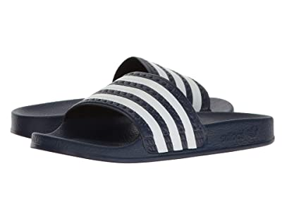 adidas Originals Kids Adilette (Little Kid/Big Kid) (Legend Ink/Footwear White/Legend Ink) Kids Shoes