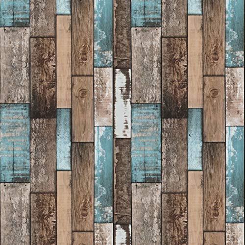 Blau Wandtapete Braun Klebefolie Holz Streifen Tapete Selbstklebende Möbelfolie 45cm X 500cm Natur Holzmaserung Wandverkleidung Braun Holzoptik für Wand Schrank Küchen Tisch Möbel Vinyl Folie